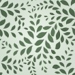 Seamless green leaves floral vector wallpaper pattern. — Stock Vector #55196433