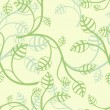 Seamless light green leaves wallpaper vector pattern. — Stock Vector #55198585