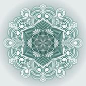 Abstract flower round vector ornament. — Stockvektor