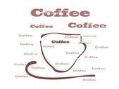 Vektor-Illustration, Kaffee — Stockvektor
