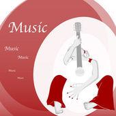 Hudba, kytara — Stock vektor
