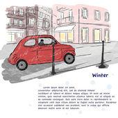 Winter — Stockvektor