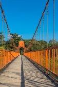 On the bridge in Vang Vieng — Stock Photo