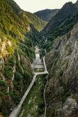 View from Vidraru dam, Romania — Stock Photo