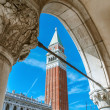 Campanille in St. Mark's square,Venice, italy — Stock Photo #53940109