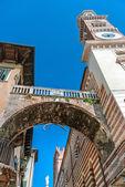 Torre Dei Lamberti in Verona Italy — 图库照片