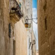 Maltese narrow street in Mdina — Stock Photo #64539153