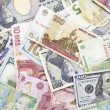 Different foreign currency background- concept of exchange rate — Stock Photo #52476163