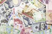 Different foreign currency background- concept of exchange rate — Stockfoto