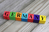 Word germany on wooden cubes — Stock Photo