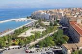Panoramic view of Corfu, Greece — Stok fotoğraf