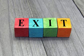 Concept of exit — Stock Photo