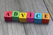 Concept of advice word on wooden cubes — Stock Photo