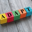 Word adapt on colorful wooden cubes — Stock Photo #62501587