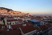 Lisbon cityscape during sunset — Stock Photo