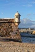 Forte da Ponta da Banderia- Lagos Fortress, Algarve, Portugal — Stock Photo