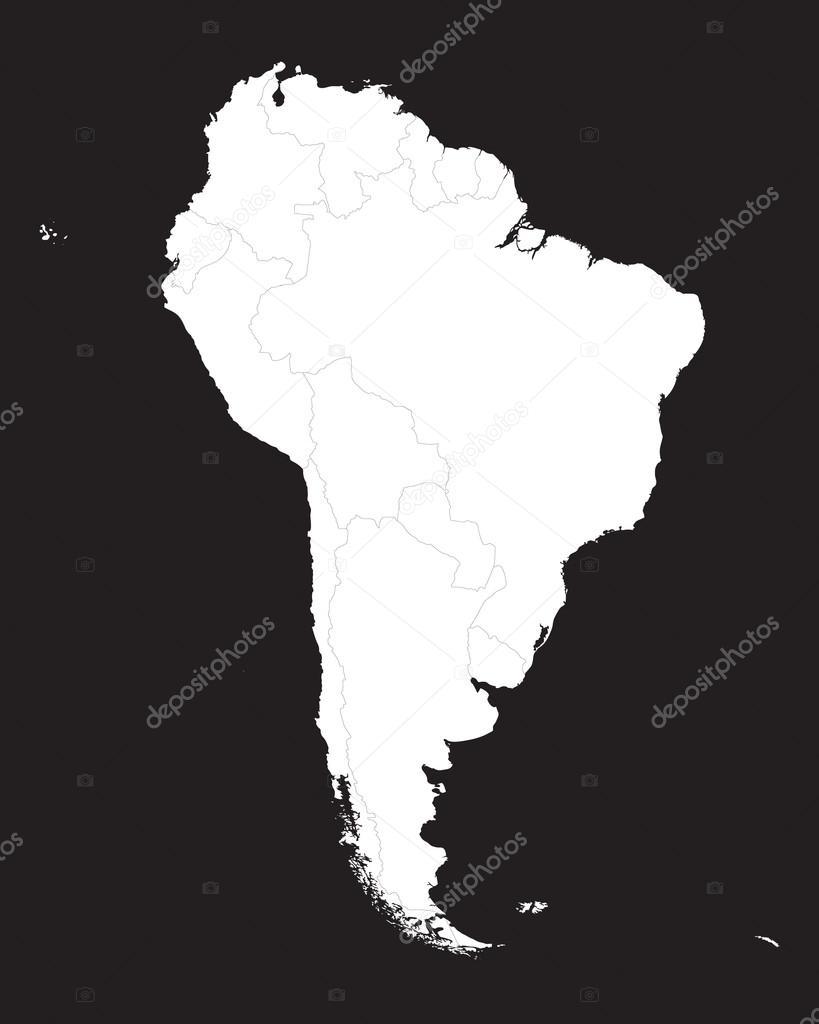 黑色和白色的南非地图 — 图库矢量图像08 chrupka