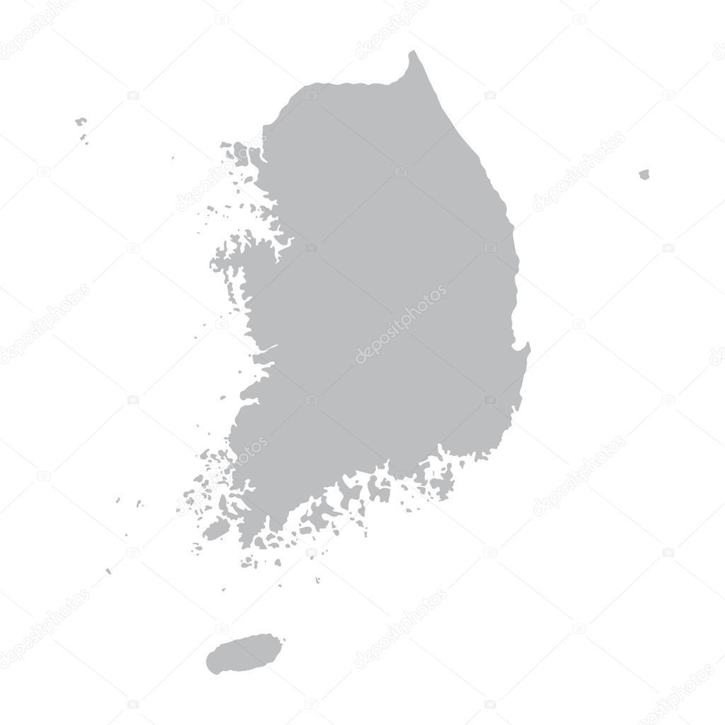 韩国的灰色地图