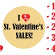Valentine's Day Sales vector icons — Stock Vector #63816503