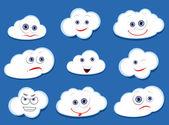 Cartoon vector clouds — Stock Vector