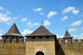 Medieval fortress walls and towers — Stock Photo
