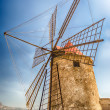 Old Windmill for Salt Production, Sicily — Stock Photo #57562733