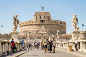 Castel Sant'Angelo fortress and bridge view in Rome, Italy.  — Stockfoto