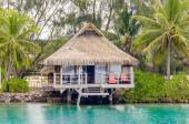 Overwater Bungalows, French Polynesia — Stock Photo