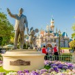 Walt Disney and Mickey Mouse Statue at Disneyland Park — Stock Photo #64461435