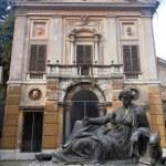 Постер, плакат: Abandoned Monument inside Villa Albani in Rome Italy