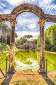 The Ancient Pool called Canopus in Villa Adriana (Hadrian's Vill — Stock fotografie