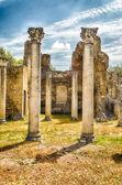 Ruins of Corinthian Columns at Villa Adriana (Hadrian's Villa),  — Stock fotografie