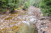 Long exposure shot of a river and rocks, Yosemite National Park — Stock Photo