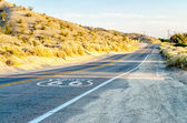 Historic Route 66 with Pavement Sign in California — Stock Photo