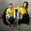 Couple watching football — Stock Photo #52832395