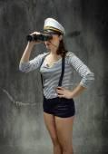 Capitão de marinheiro em um dia de vida do mar — Fotografia Stock