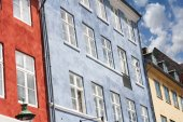Copenaghen ryhavn buildings — Stock Photo