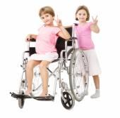 V for success in handicap family — Stock Photo