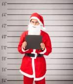 Santa claus in prison — Stock Photo