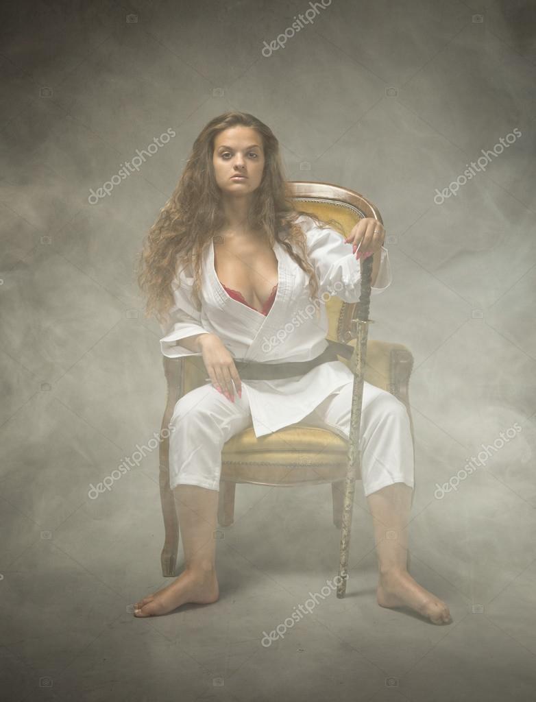 Women sexy judo