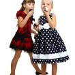 Two little girls eatting — Stock Photo #52682311