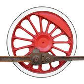 Locomotive wheel — Stock Photo