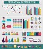 Utbildning infographic — Stockvektor