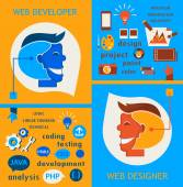 Web designers and web developers. — Stock Vector
