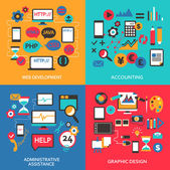 Flat design. Freelance infographic. — Stockvektor