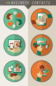 Business contacts infographic. — Stock Vector