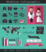 Wedding infographic. — Stock Vector