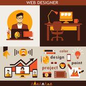 Web design infographic. — Stock Vector