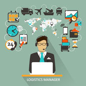 Logistics Manager. Freelance infographic. — Stock Vector