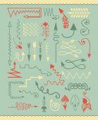 Elementos de natal mão desenhada — Vetor de Stock
